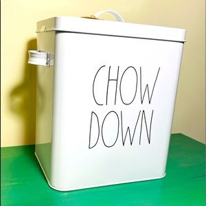 Rae Dunn CHOW DOG dog food tin canister NWT